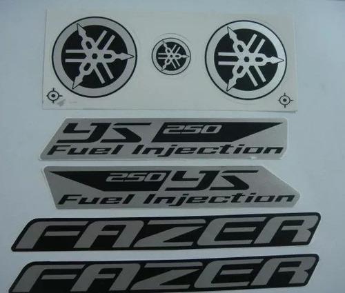 adesivo ys250 fazer 2012 preto, faixa original completa