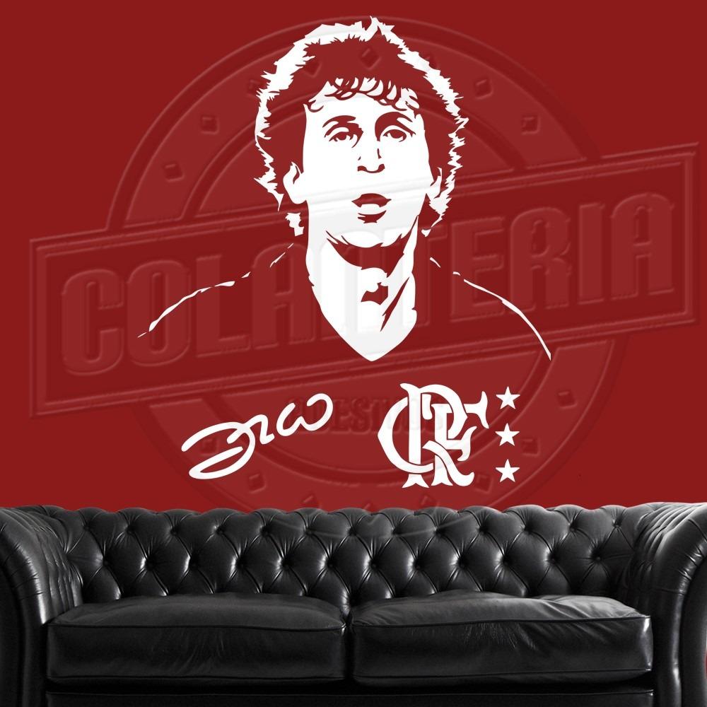 Adesivo Zico Flamengo Mengao Adesivo Parede Decorativo 98cm - R  59 ... 5ae10d61211af