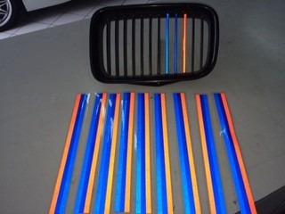 adesivo/faixa bmw e36 ///m grade dianteira m3 reflexiva