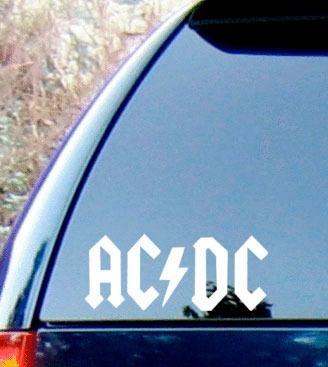 adesivos ac/dc para carro 15cm