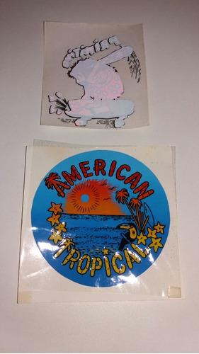adesivos antigos anos 80 primitivos e american tropical