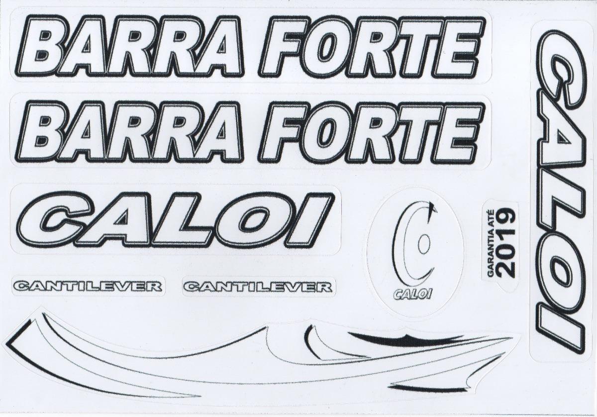 Adesivos Branco Caloi Barra Forte Alta Qualidade Raridade R 9