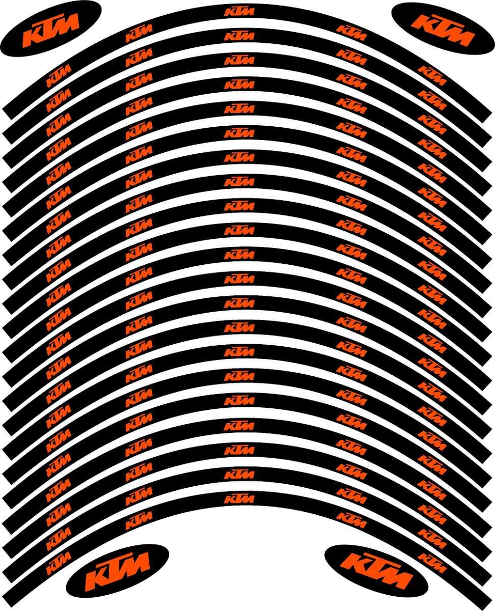 Armario De Parede Pequeno ~ Adesivos De Aro Ktm (réplica) Black R$ 85,00 em Mercado Livre