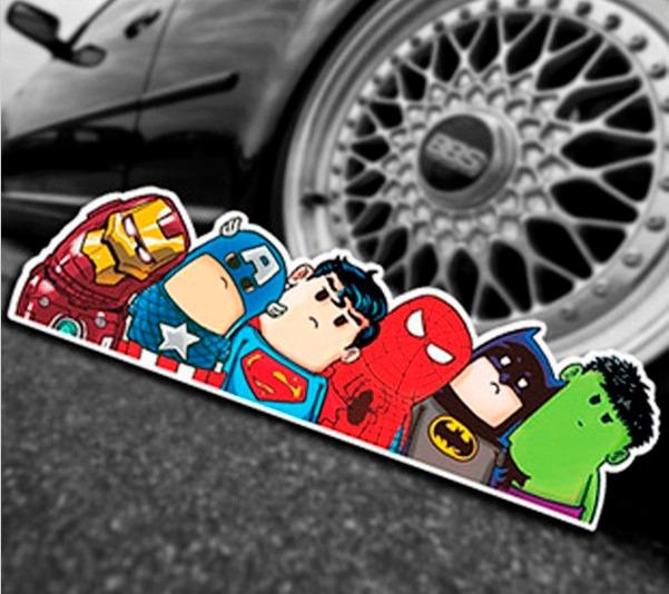 adesivos de carro desenho animado r 9 90 em mercado livre
