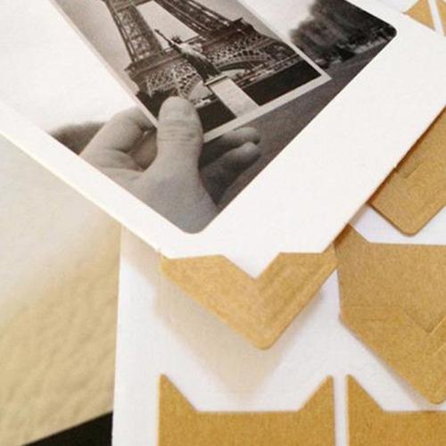 adesivos de papel retrô para álbuns de fotos frame cantos lá