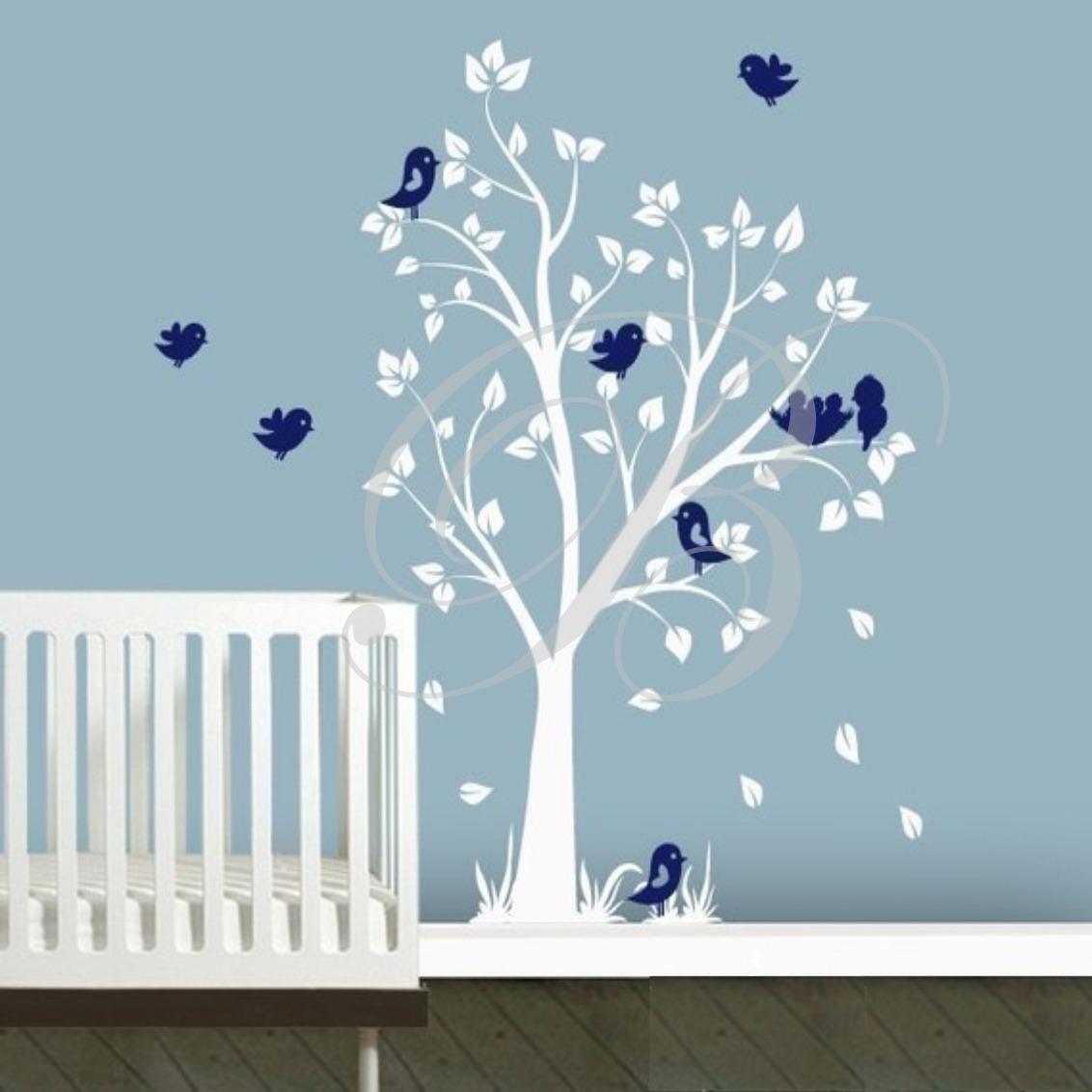 Adesivos De Parede Decorativo Rvores Grandes Infantil R 119 00  -> Modelos De Papel De Parede Em Forma De Flores