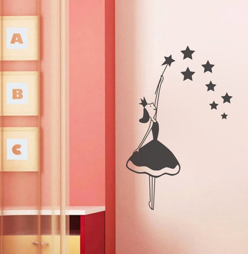 adesivos de parede decorativo bailarina balé estrela menina
