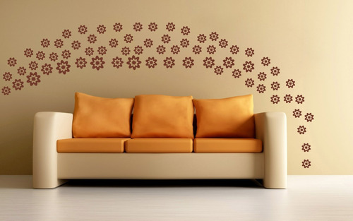 adesivos de parede decorativo com 70 flores, geladeira, box
