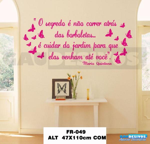 Gau Adesivos ~ Adesivos De Parede Decorativos Frases, Proverbio Pensamentos R$ 79,98 em Mercado Livre