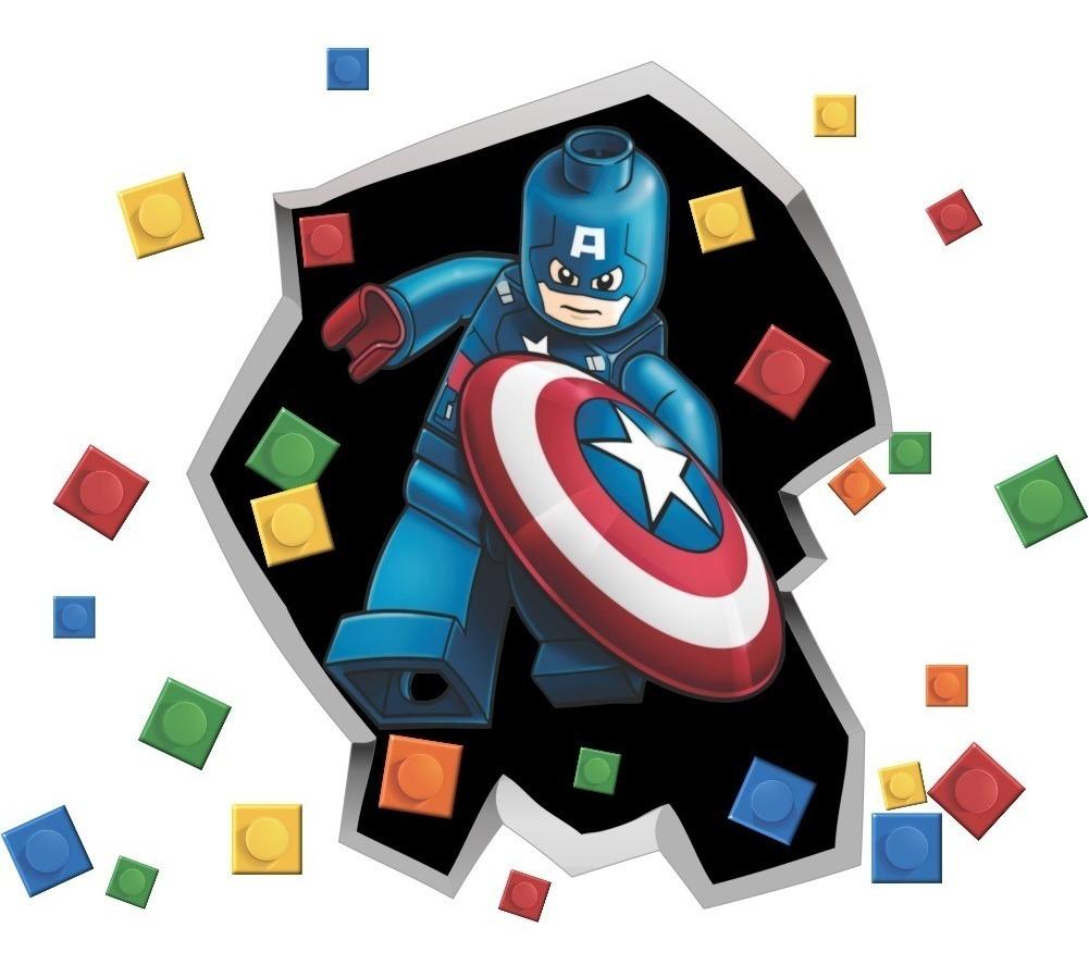 Lego Super-Heróis Superman Ironman Homem-aranha Foto Adesivo De Parede decalques de parede