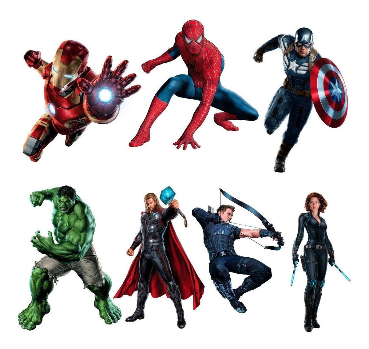 Adesivos De Parede Vingadores Avengers Hulk Thor C America R 59