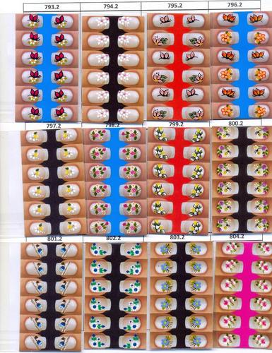adesivos de unhas.40 cartelas+ brinde - frete grátis!