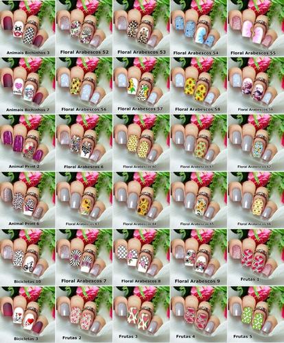 adesivos de unhas/peliculas de unhas p/ escolher no catálogo