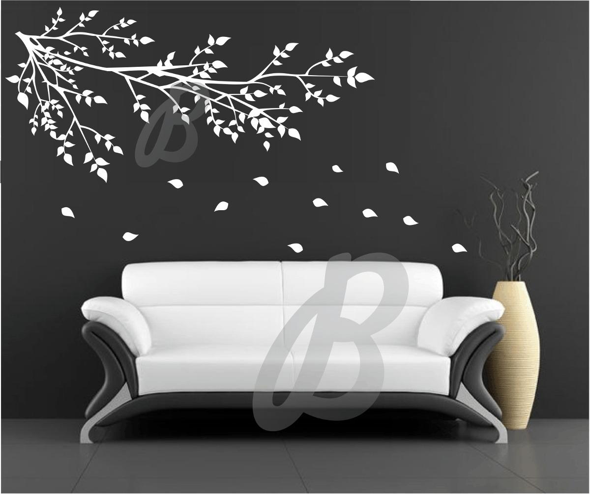 Adesivos decorativo papel parede rvores florais infantil r 39 90 em mercado livre - Papel para paredes decorativo ...