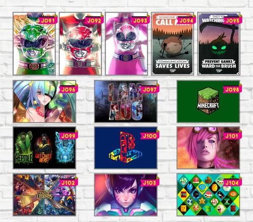 adesivos decorativos 13x20 games geek filmes retro lol  cs