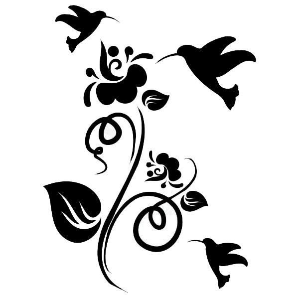 Adesivos Decorativos Animais / Borboleta Beija-flor / 20