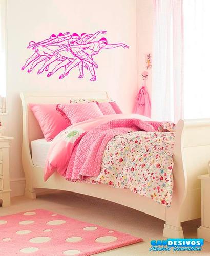 adesivos decorativos bailarina quarto - infantil - menina