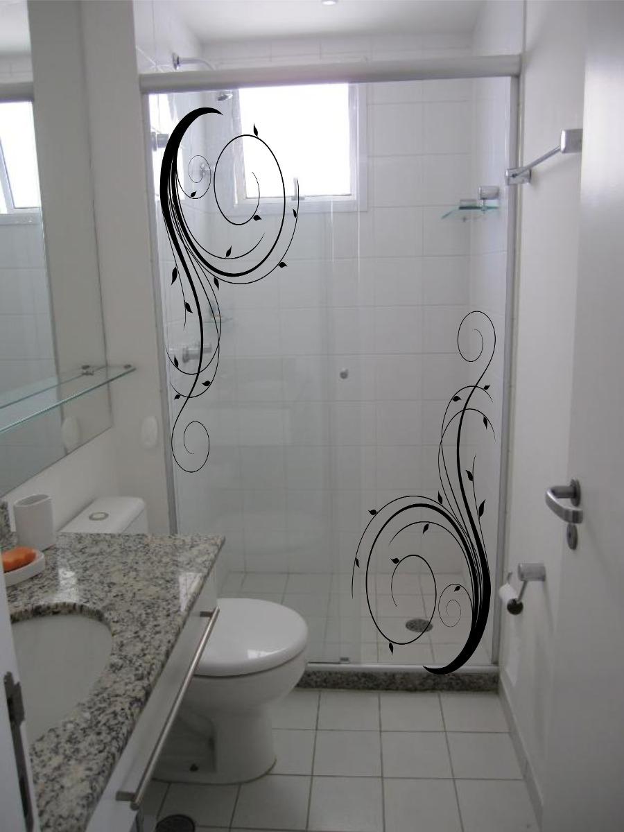 Adesivos Decorativos Box Blindex Espelho Vidro Banheiro  R$ 84,79 em Mercado -> Box Para Banheiro Rio Pequeno Sp