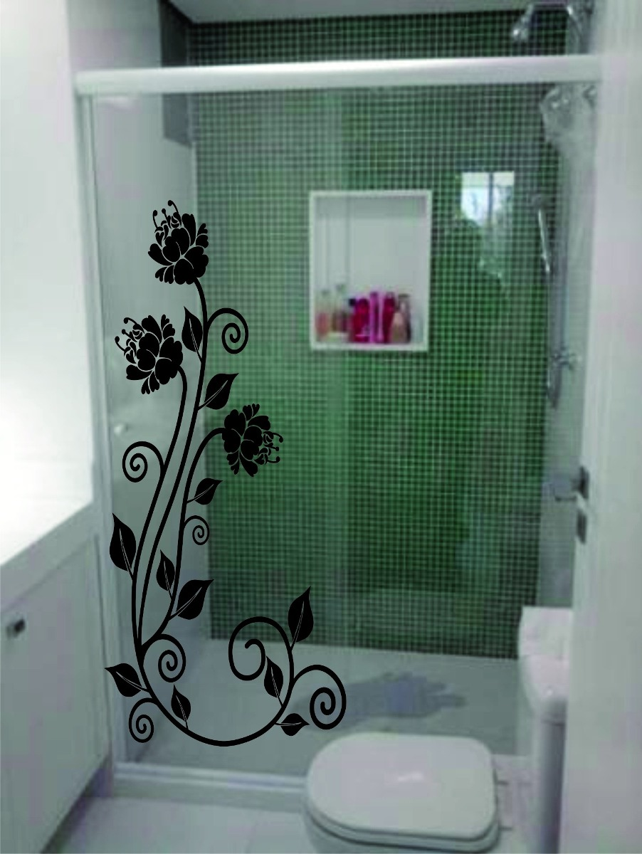 adesivos decorativos box blindex espelho vidro decorar r 40 50 em mercado livre. Black Bedroom Furniture Sets. Home Design Ideas