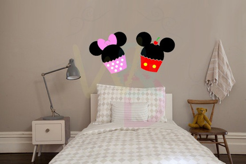 adesivos decorativos (cupcake mickey e minnie)