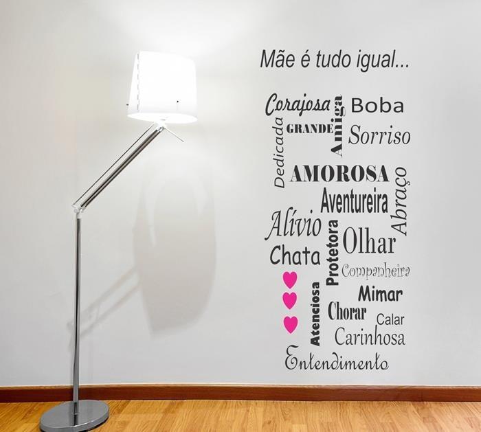 Adesivos Decorativos De Parede Frases Texto Mãe Romanticas R 56