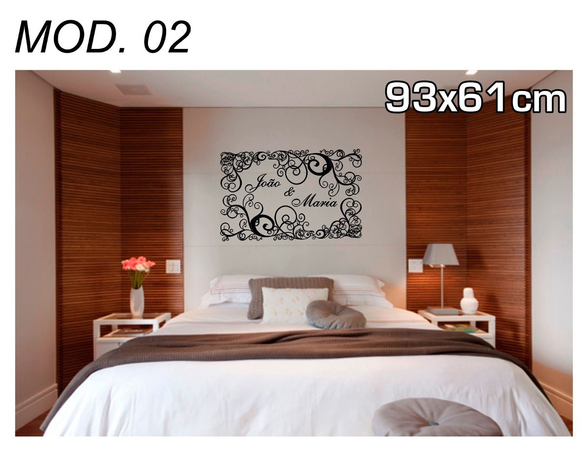 Adesivos Decorativos De Parede Quarto Casal R 45 90 Em  ~ Papel De Parede Para Quarto De Casal Vermelho