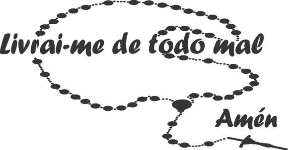 Adesivos Decorativos Frases Livrai Me De Todo Mal Amém R 3700