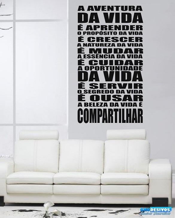 Adesivos Decorativos Frases Pensamentos Aventura Da Vida R