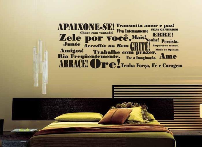 Adesivos Decorativos Frases Pensamentos Sala Cozinha Academia Palavras Motivacional