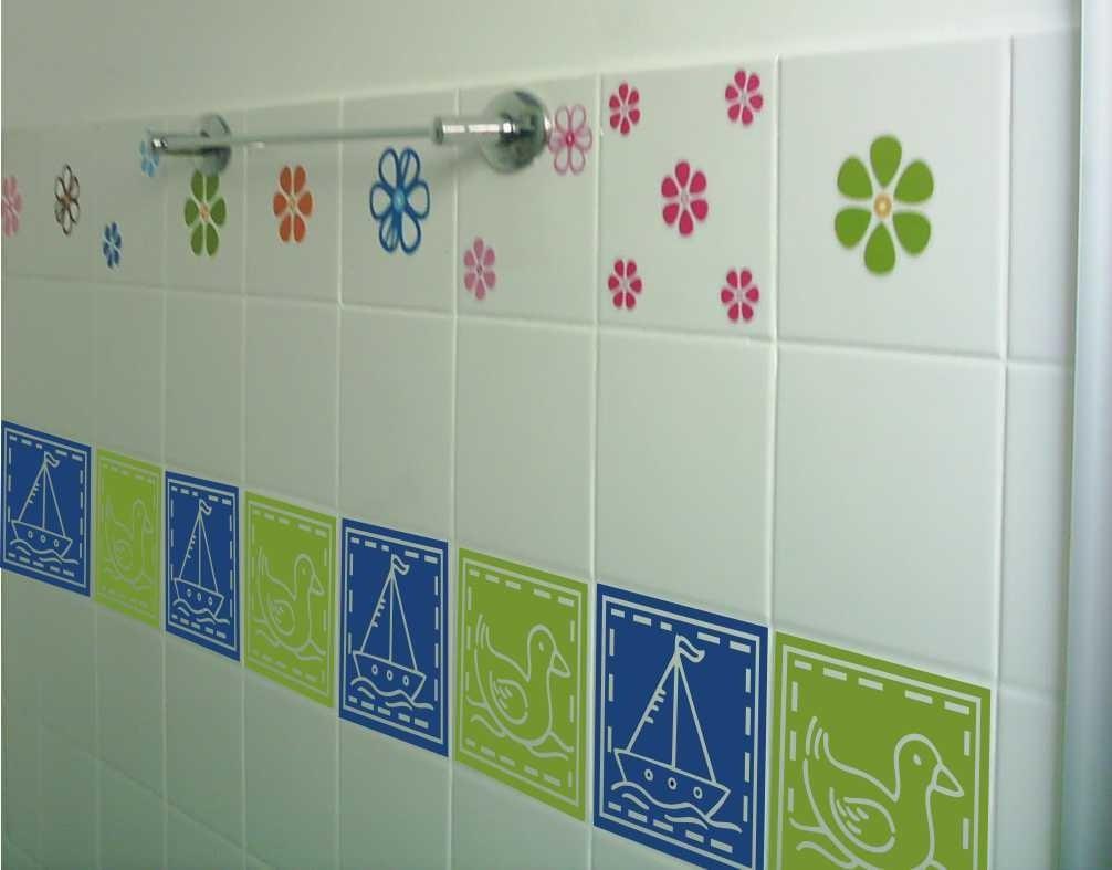 Adesivos decorativos para azulejos cozinhas e banheiros for Azulejos decorativos