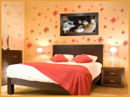 adesivos decorativos para parede - kit com 50 flores