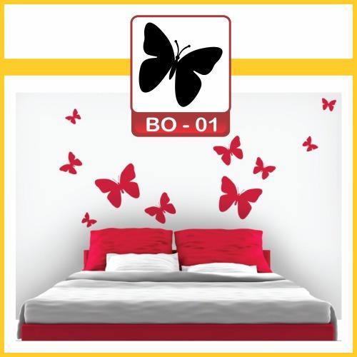 adesivos decorativos paredes e ambientes - kit 48 borboletas