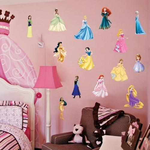 Aparador De Livros Em Ingles ~ Adesivos Decorativos Princesas Disney Adesivos De Parede R$ 69,00 em Mercado Livre