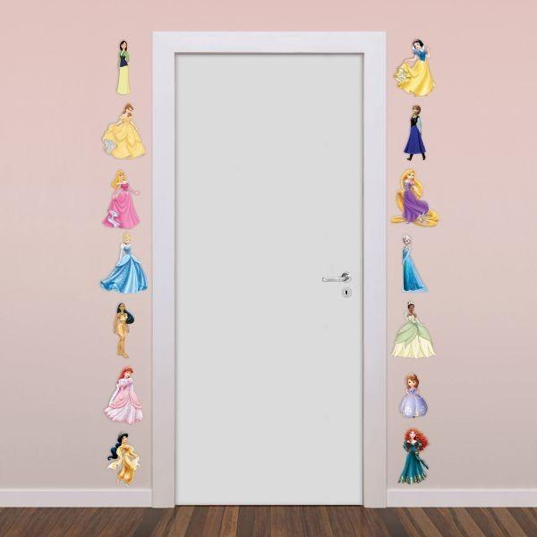 Aparador De Livros Em Ingles ~ Adesivos Decorativos Princesas Disney Adesivos De Parede R$ 59,00 em Mercado Livre