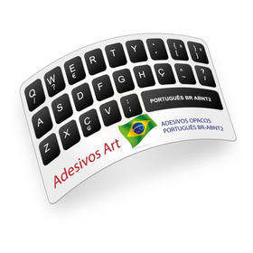 Adesivos Etiquetas P/ Teclado Português (br Abnt2) Ç Cedilha