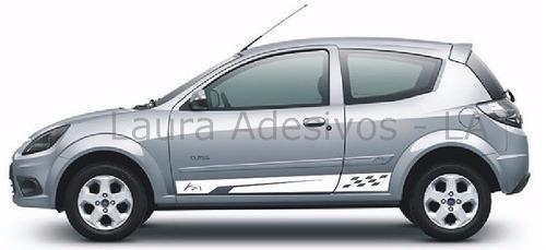 adesivos faixa lateral novo ford ka sport tuning peças la