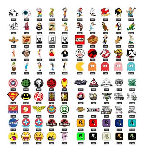 adesivos geek, nerd e personagens (20uni.)