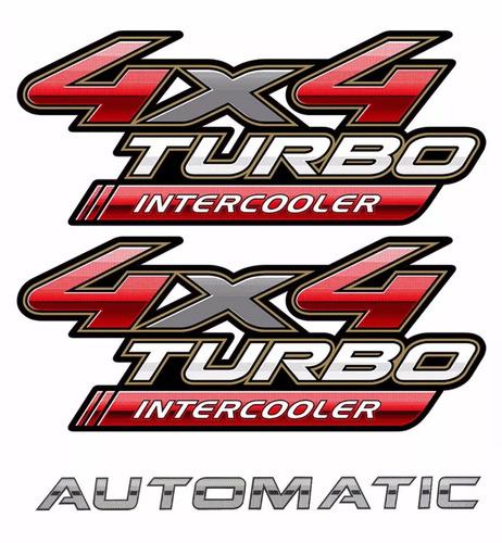 adesivos hilux 4x4 2 un + automatic modelo original