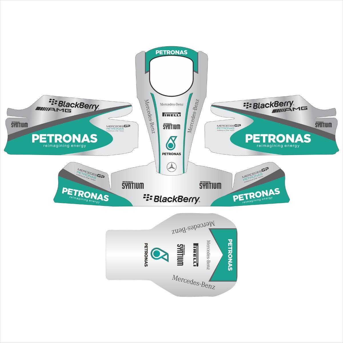 Adesivos Kart - Réplica F1 Mercedes Petronas - R  350 c8e3994453839