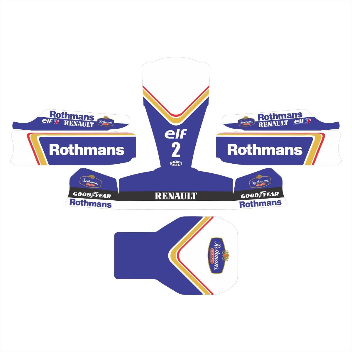 Adesivos Kart - Réplica F1 Renault Williams Rothmans - R  350 ffcca914e0c4d