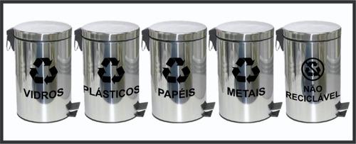 adesivos kit completo de coleta seletiva de lixo