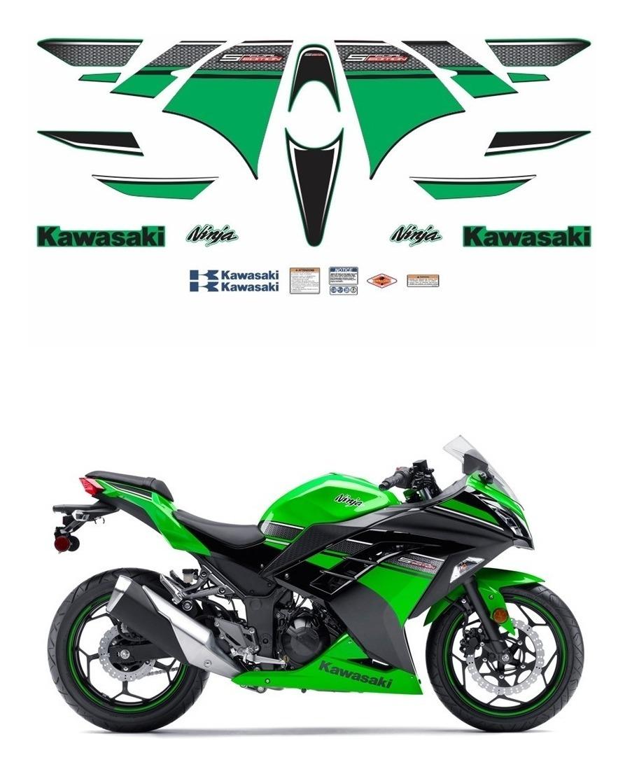 Cetec Adesivos Adesivos Moto Kawasaki Ninja 300 Verde Edicao Especial 16103 R 299 90