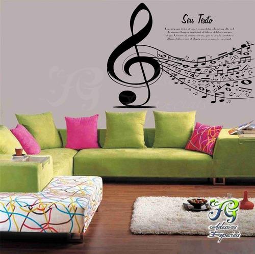 adesivos notas musicais sol, adesivos de parede, fg adesivos
