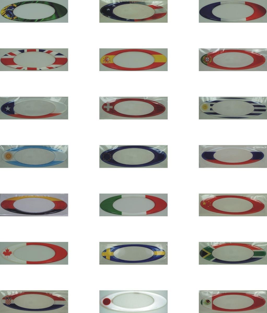 dff2d686c adesivos oakley brasil resinados bandeira paises 12x4cm@. Carregando zoom.