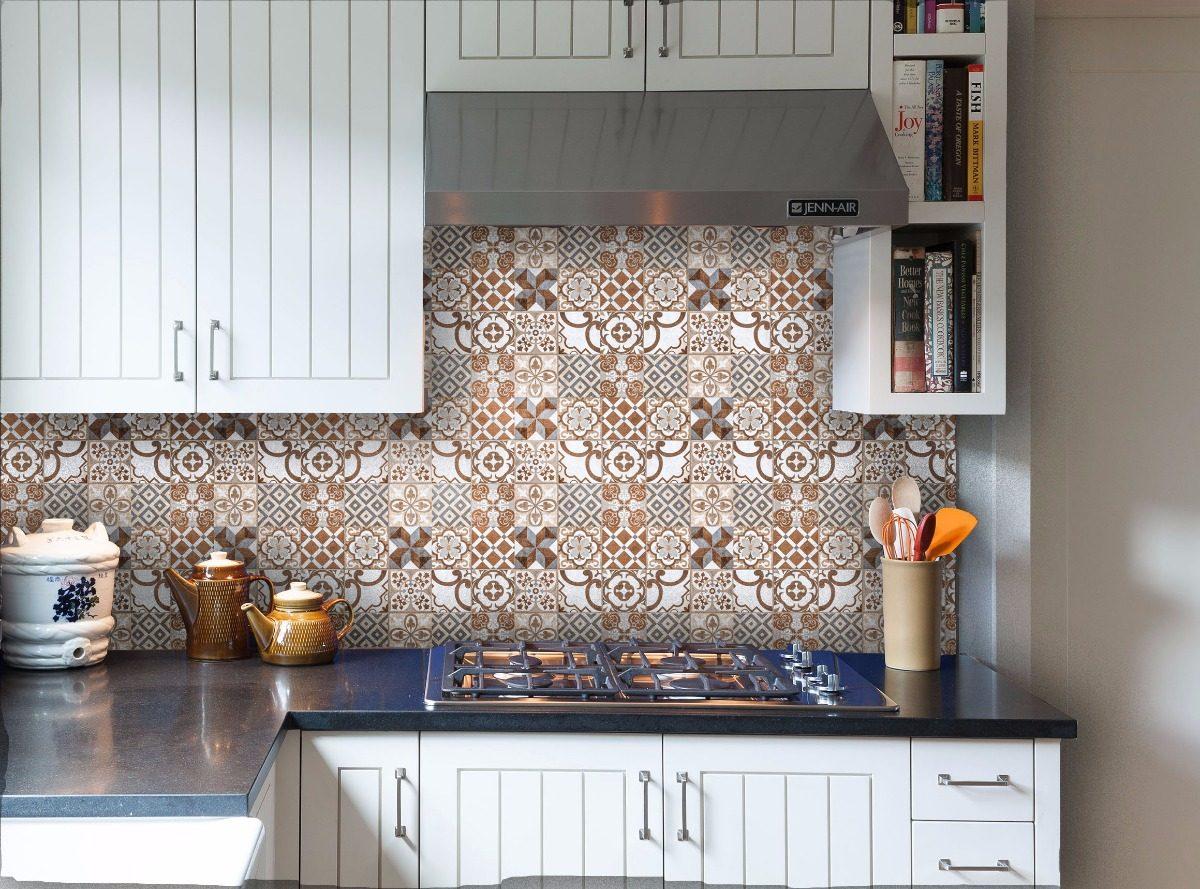 Adesivos Para Cozinha Azulejos Marrom Az11 R 2499 Em Mercado Livre