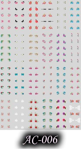 adesivos para unhas artesanal r$0,49 10 desenhos