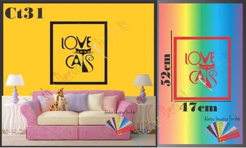 adesivos parede animais felino gato coruja pets shopping