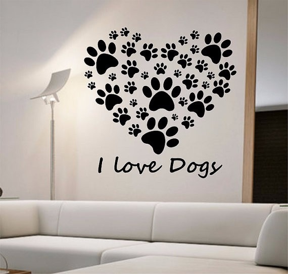 Dog Picture Heart Background