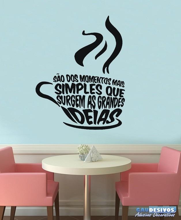 Aparador De Livros Em Ingles ~ Adesivos Decorativos Frases De Parede Xicara Coffee Cozinha R$ 40,59 em Mercado Livre