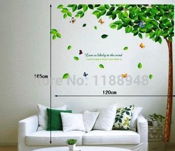 adesivos parede  folhas da borboleta promoção!